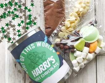 Out Of This World Deluxe Hot Chocolate in a Personalised Ring Pull Tin