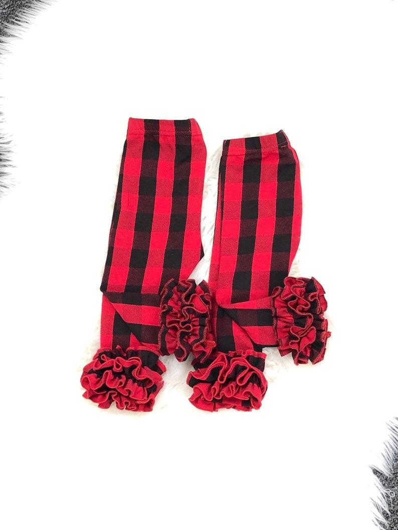 ccba78f02f60e Buffalo plaid girls leggings red buffalo plaid leggings | Etsy