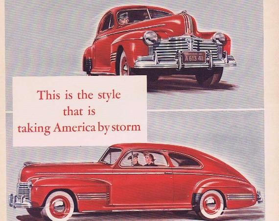 1941 Pontiac Streamliner Torpedo Original Automobile Advertisement Six Sedan Coupe for 825 Dollars