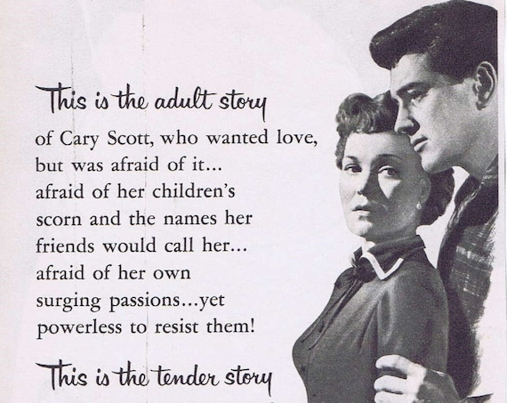 All that Heaven Allows 1956 Original Vintage Movie Ad with Jane Wyman and Rock Hudson