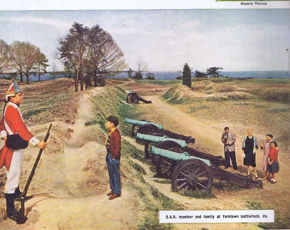 1956 Yorktown Daughters of American Revolution Original Vintage Advertisement Saluted by Sinclair Oil