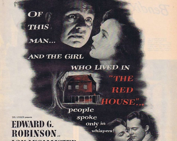 The Red House 1947 Original Vintage Movie Ad with Edward G. Robinson and Lon McCallister