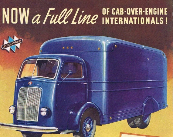 International Truck Model D-400 1940 Original Vintage Advertisement