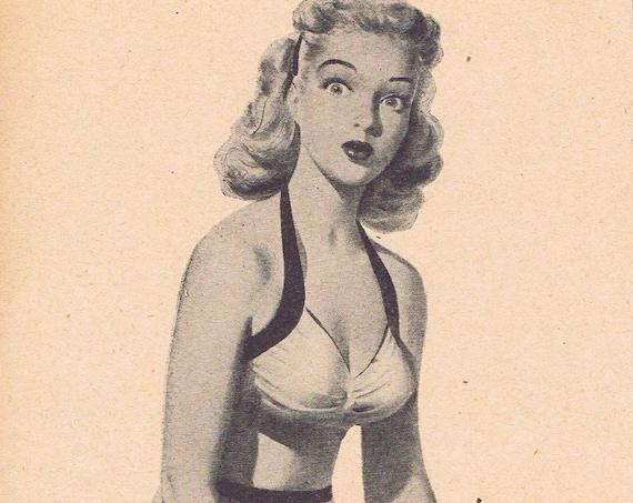 1946 Fit Pretty Girl Problem or Sonotone 600 Hearing Aids Original Vintage Advertisement