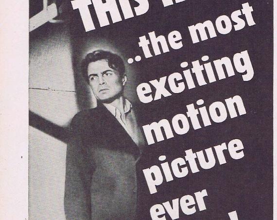 Odd Man Out 1947 Original Vintage Movie Ad with James Mason and Robert Newton