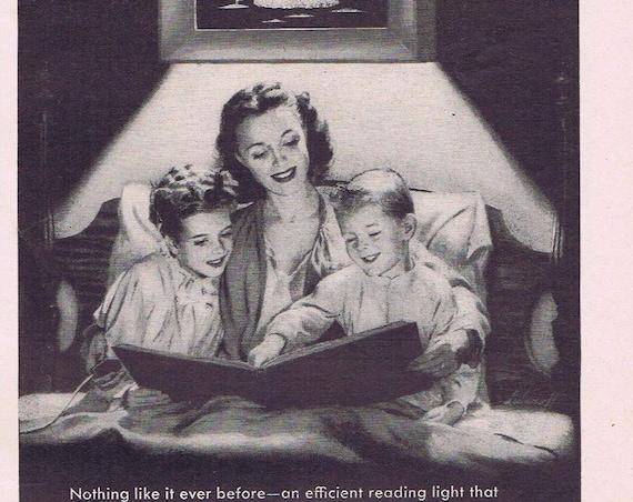 1949 Lightolier Decoralite Bed Reading Light Original Vintage  Advertisement