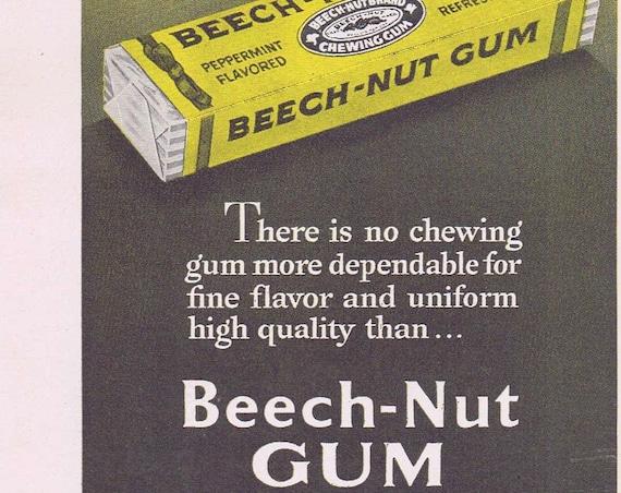 1949 Beech-Nut Chewing Gum or Dow Plastics Saran Screen Original Vintage Advertisement