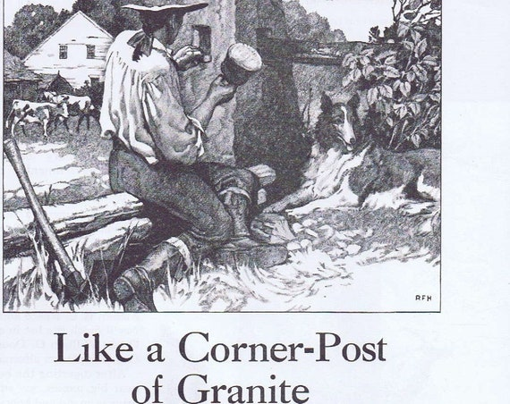 1938 National Life Insurance Company in Vermont Original Vintage Advertisement Like a Corner-Post of Granite by Early Farmers