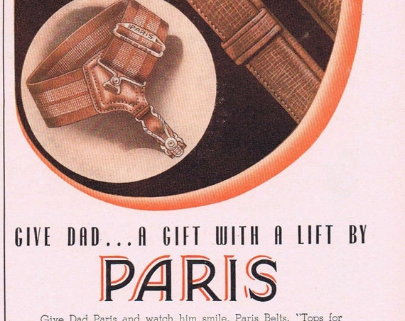 1942 Women's Stockings and Ivory Snow Soap or Paris Men's Belts Old Advertisement