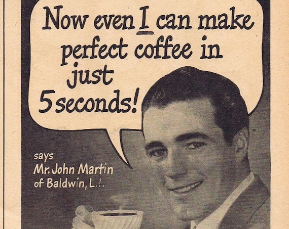 1946 G. Washington Instant Coffee Original Vintage Advertisement