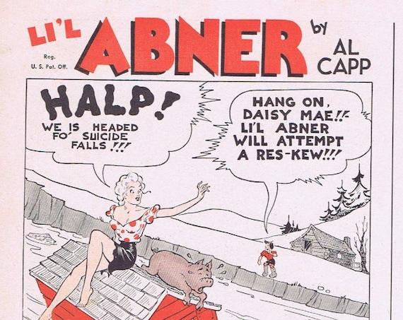 Li'l Abner and Daisy Mae Art by Al Capp Cream of Wheat 1942 Original Vintage Advertisement