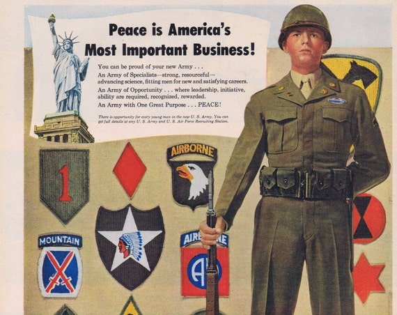 1949 U.S. Army Recruiting Original Vintage Advertisement Army Day April 6