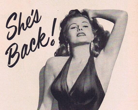 Rita Hayworth in Affair in Trinidad 1952 Original Vintage Movie Ad with Glenn Ford