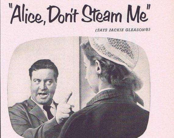 1953 Jackie Gleason Schick 20 Razor Blades Original Vintage Advertisement