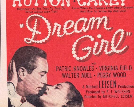 Betty Hutton in Dream Girl 1948 Original Vintage Movie Ad with Macdonald Carey