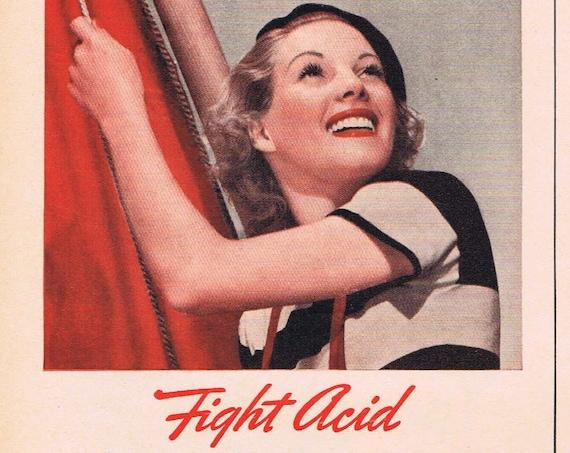 1941 Squibb Dental Cream and Tooth Powder Original Vintage Advertisement
