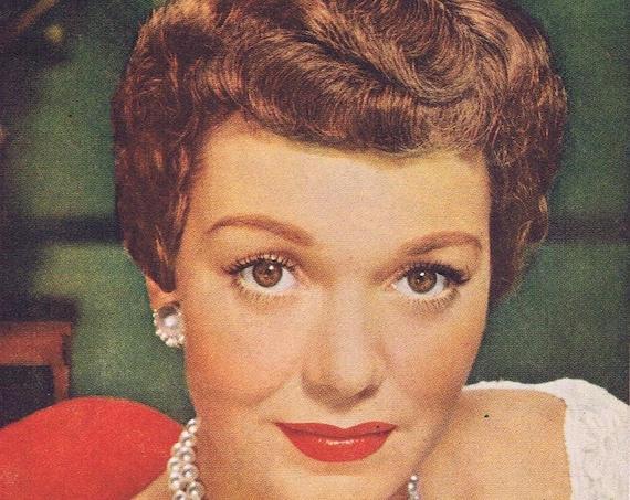 1951 Jane Wyman World's Loveliest Hair Lustre-Crème Shampoo with Lanolin Original Vintage Advertisement