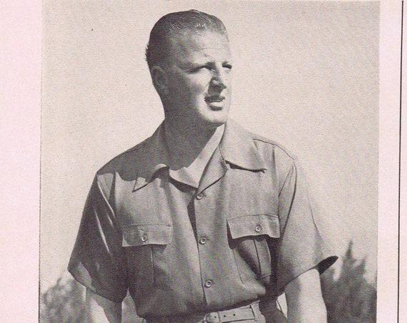 1942 Golf Great Craig Wood Sun Mates Slack Suits Original Vintage Advertisement