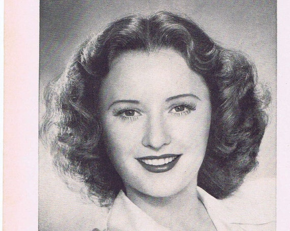 1939 Young and Beautiful Barbara Stanwyck Calox Tooth Powder Original Vintage Advertisement