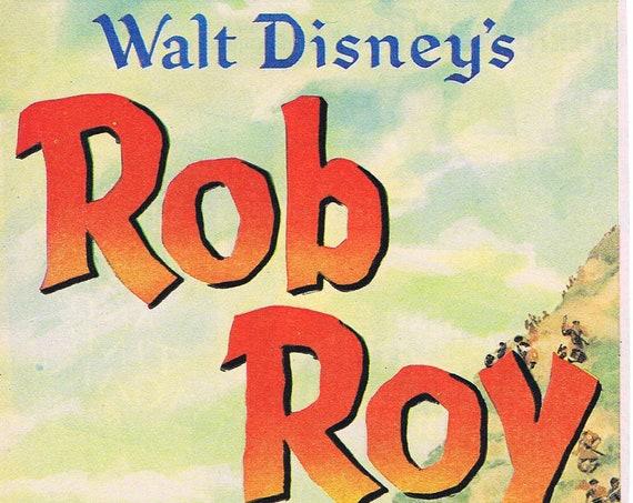 Walt Disney's Rob Roy the Highland Rogue 1950 Original Vintage Movie Advertisement