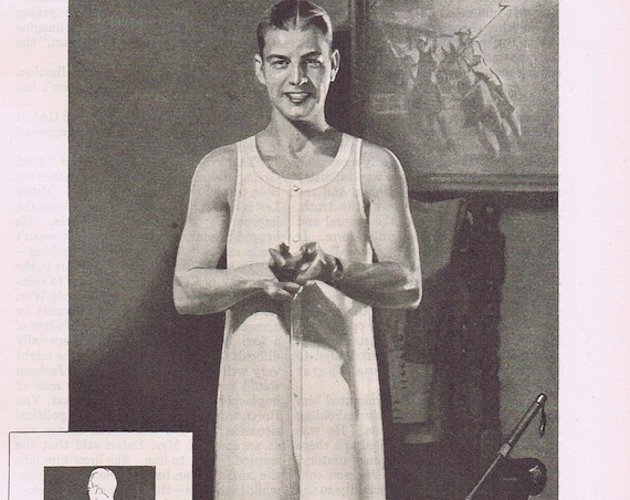Topkis Men's Athletic Underwear 1927 Original Vintage Advertisement