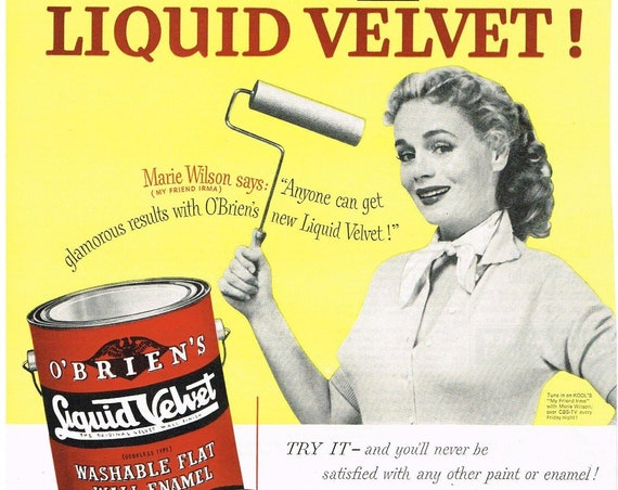 O'Brien's Liquid Gold Paints 1954 Vintage Ad with Marie Wilson of My Friend Irma