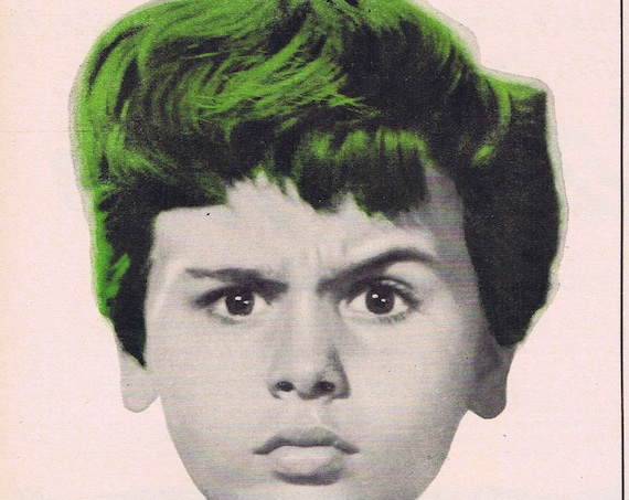 The Boy with Green Hair 1948 Original Vintage Movie Ad with Pat O'Brien and Dean Stockwell Unique and Unusual