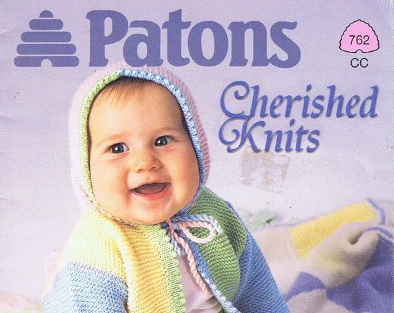 Patons Cherished Knits 762 for Sizes 3-18 Months Great Baby Photos