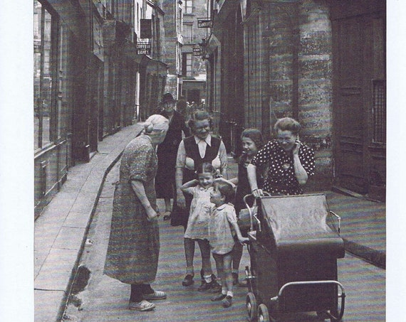 Kids at Play in Paris Streets After WW2 1946 Vintage Magazine Photo