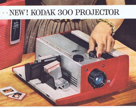 1957 Kodak 300 Film Projector Original Vintage Advertisement with Great Photos