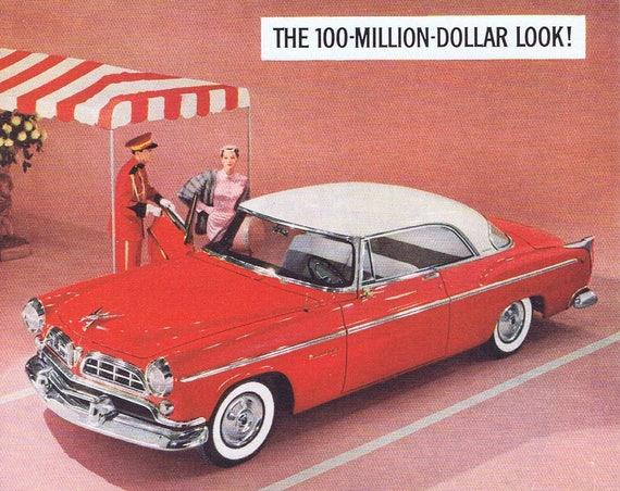 1955 Chrysler Automobile Original Vintage Advertisement with the 100-Million-Dollar Look