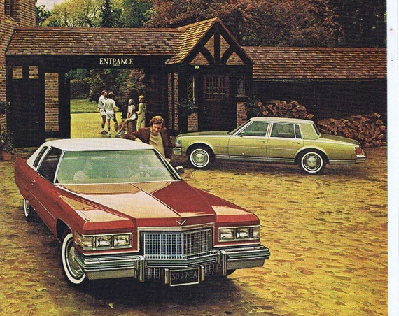 1976 Cadillac Automobile Luxury with 2 Cars Original Vintage Advertisement