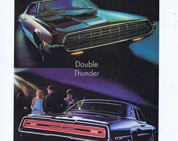 1968 Ford Thunderbird Double Thunder Original Vintage Advertisement