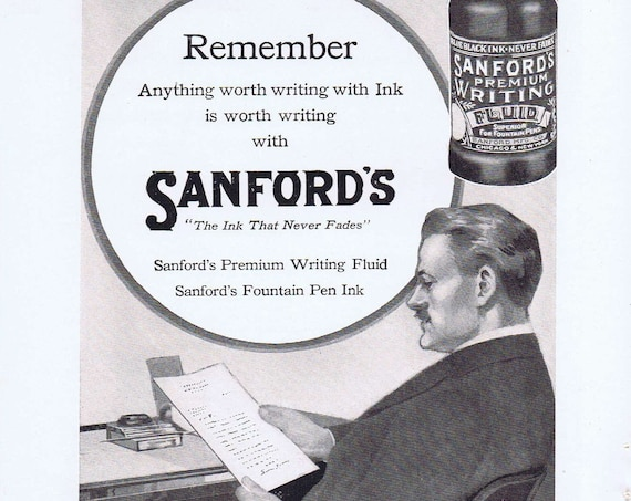 Sanford's Ink and American Chain Company Car Chain-Jack Old Advertisement