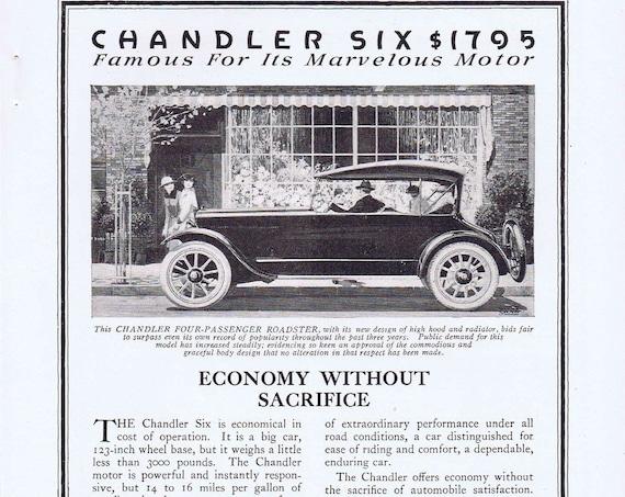 1919 Chandler Six Roadster Automobile or Aladdin Home Building Original Advertisement