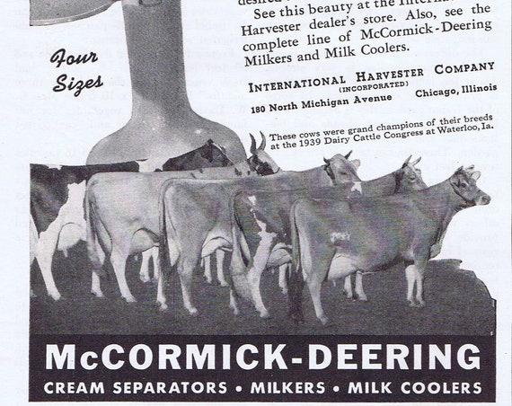 McCormick-Deering Cream Separator or Drought Proof Gardens Original Vintage Advertisement and Feature