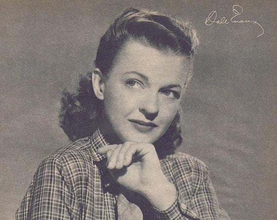 Young and Beautiful Dale Evans Western Classic Star Photo and Autograph Copy