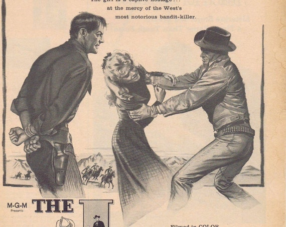 Richard Widmark and Robert Taylor the Law and Jake Wade 1958 Movie Advertisement