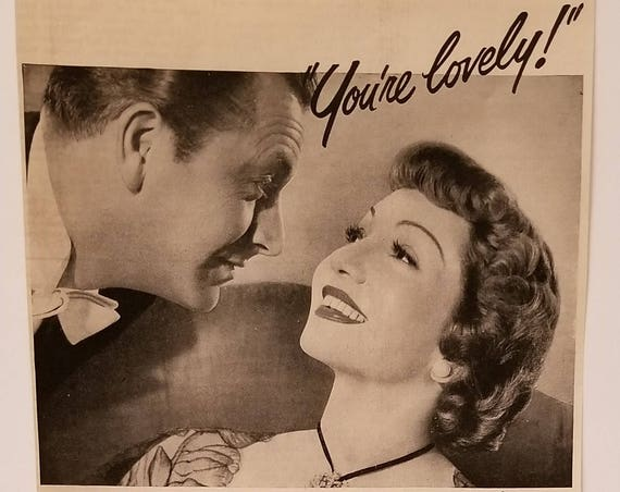 Claudette Colbert  1949 Lux Soap Original Vintage Ad with Robert Young