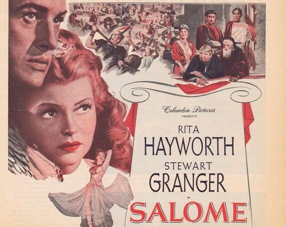 Rita Hayworth and Stewart Granger 1953 Movie Salome Old Advertisement Free Shipping