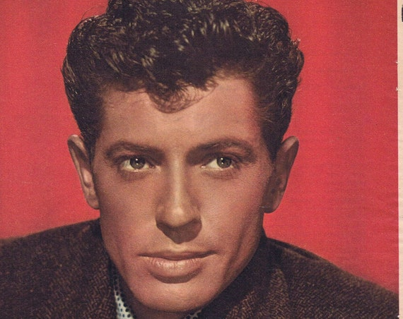 1952 FARLEY GRANGER Serious Pose Color Magazine Picture in Suit