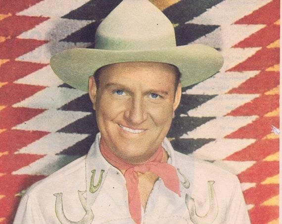 Cowboy Star Gene Autry 1949 Picture Collectible Vintage