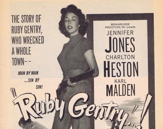 Jennifer Jones as Ruby Gentry 1952 Original Movie Ad Free Shipping