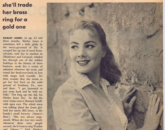 Young and Beautiful Shirley Jones 1956 Photo and Film News