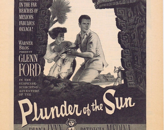 Plunder of the Sun 1953 Original Movie Ad with Glenn Ford & Diana Lynn
