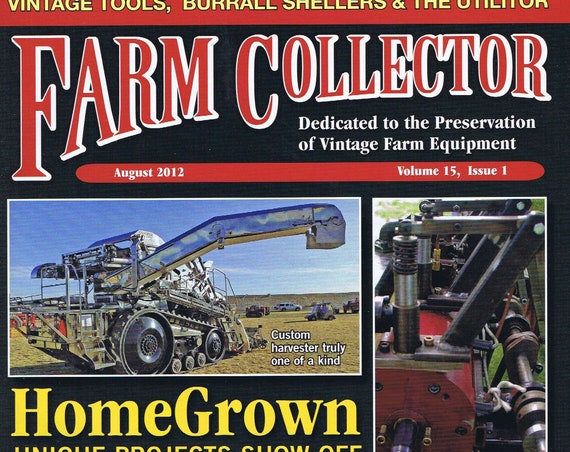 Farm Collector Magazine August 2012 Volume 15, Issue 1 Doodlebug Cover
