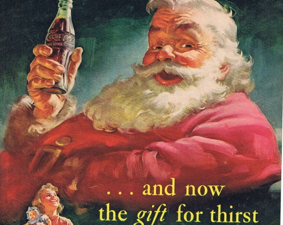 1952 Coca-Cola Santa Claus or Holland Letters From Europe with Miriam Troop Art with Vintage Costumes