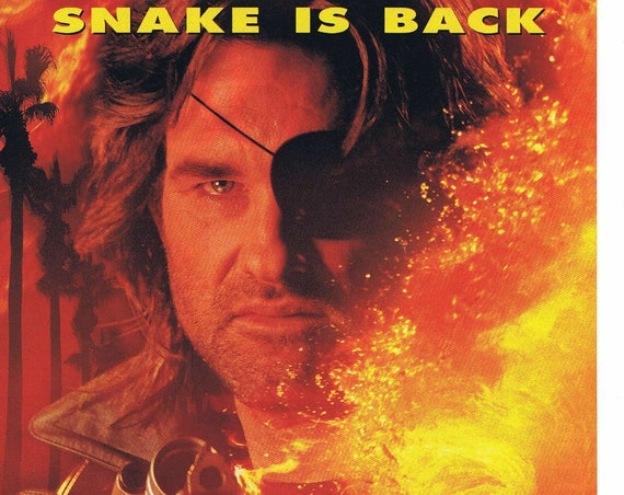 Escape from L.A. 1996 Original Movie Ad with Kurt Russell the Snake is Back