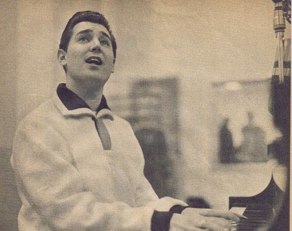 "Neil Sedaka 1960 Picture and ""Rock and Roll Maestro"" Magazine 4 Page Feature Story with Unique Photos"