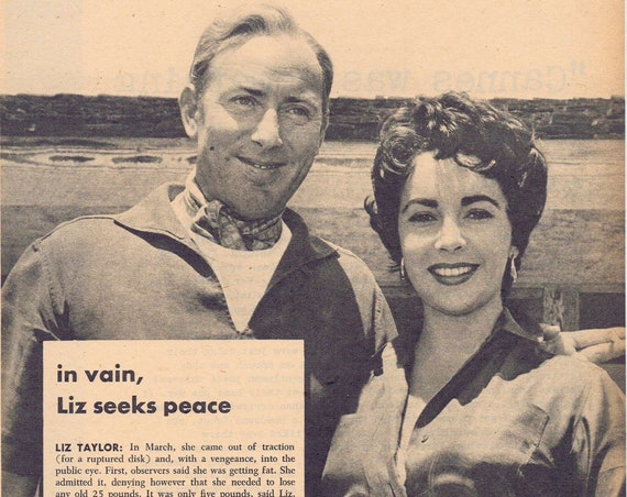 Elizabeth Taylor and Michael Wilding 1956 Couple Picture with Feature News